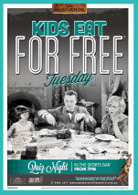 Free Kids Eat For Free at Wanneroo Villa Tavern
