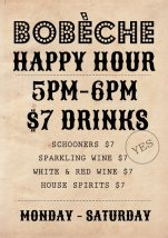 $7 Happy Hour at Bobeche