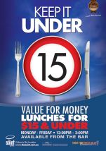 $15 Keep It Under 15 at The Saint George Hotel