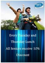 10% Off Seniors Lunch at Mount Henry Tavern