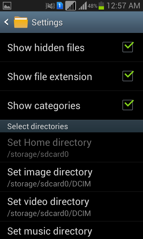 hide folder in Android