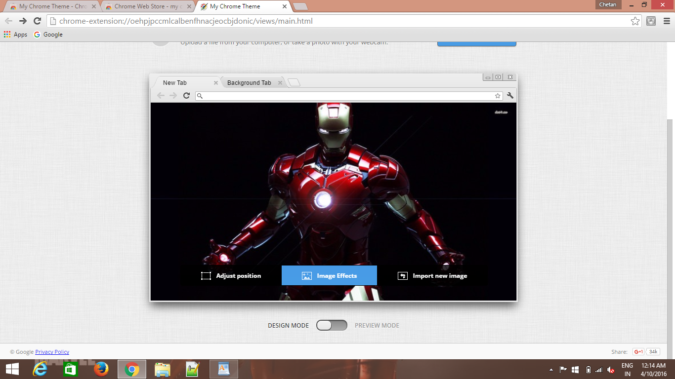 Google themes create your own - Your Own Google Chrome Theme