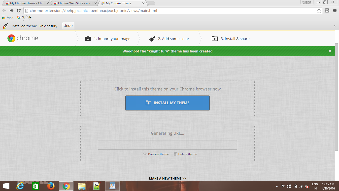 Google themes create your own - Your Own Googlr Chrome Theme