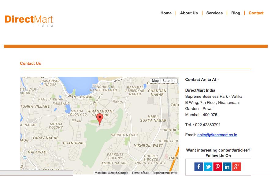 website development agency mumbai Directmart 3