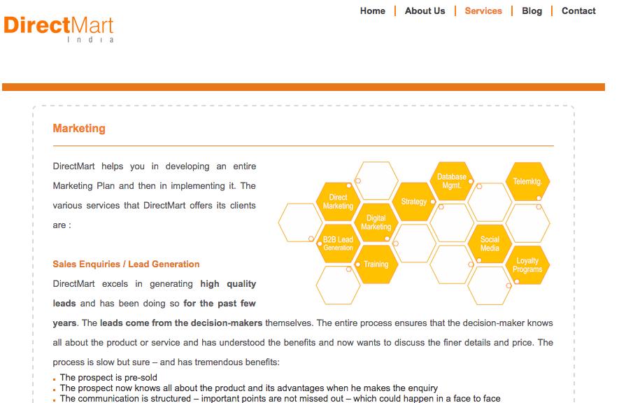 website development agency mumbai Directmart 2