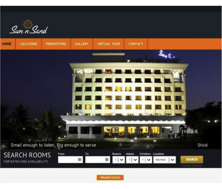 website development agency mumbai sun n sand