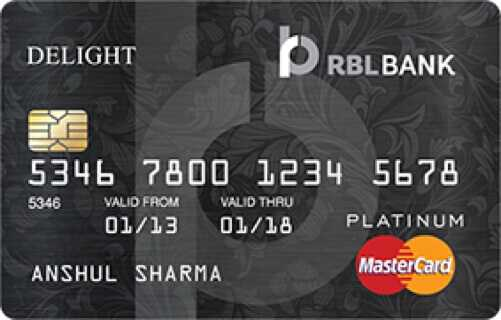 RBL™ Bank Platinum Delight Credit Card
