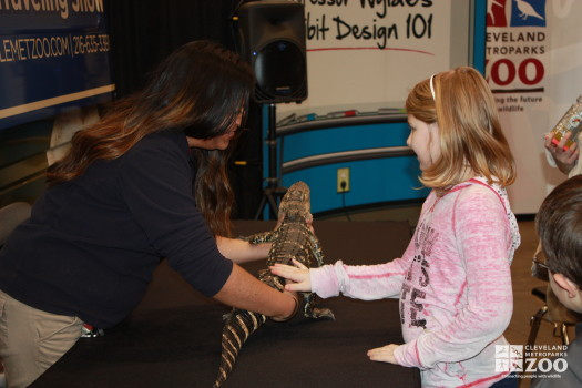 Adriana and girl with American Alligator