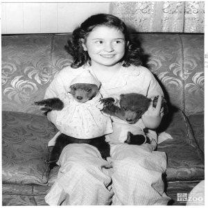 1953 - Kodiak Bear Cubs with Turnauckas' Daughter (2)