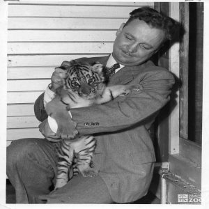 1950's - Director Reynolds and Tiger Cub