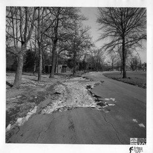 1959 - Flood Damage - Road - Monkey Island in the Distance