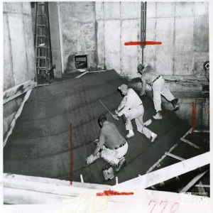 1955 - Construction of the Hippo Pool in the Pachyderm Building