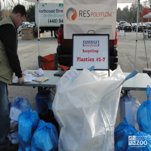 Recycling Table at America Recycles Day