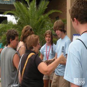 Zoo Crew Volunteers Speak to Guests