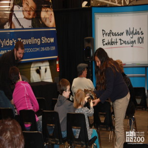 Adriana and Boa with kids touching- 2014 RV Show