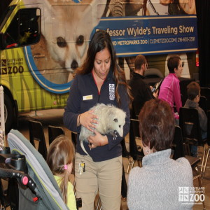 Adriana and Opossum with kid and mom- 2014 RV Show