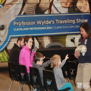 Adriana and Opossum with kids and parents- 2014 RV Show