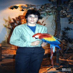 Scarlet Macaw & Deb Copeland