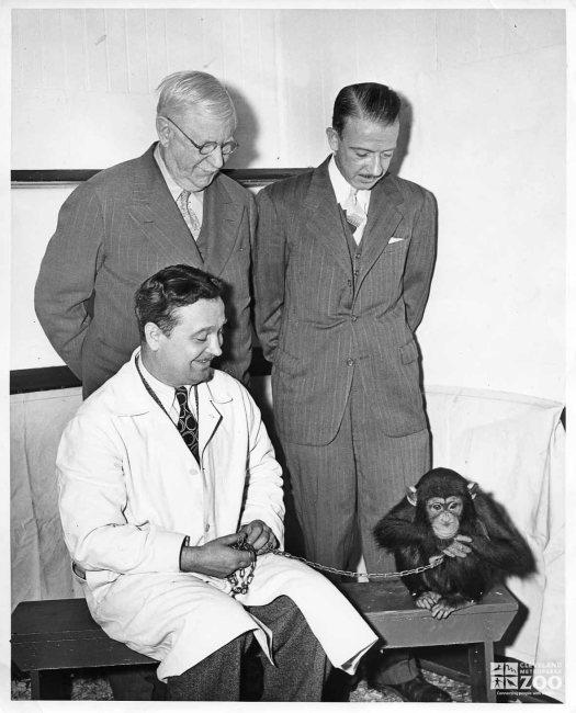 1940's Fletcher Reynolds with Chimpanzee