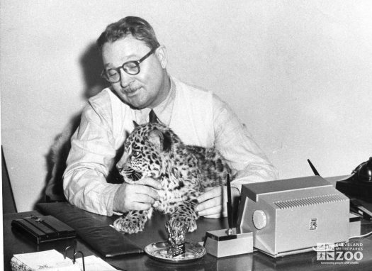 1950's - Director Reynolds and Leopard Cub