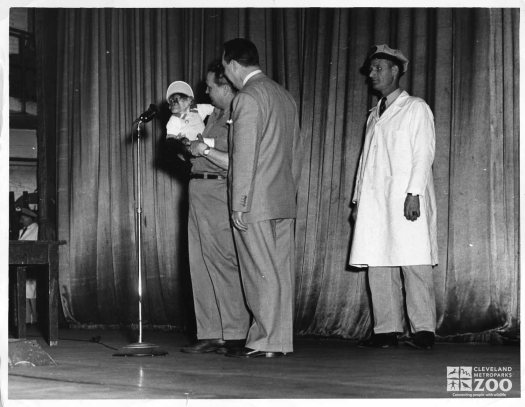 1950's - Director Reynolds with Chimpanzee