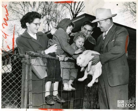 1952 - Director Reynolds with Rabbit