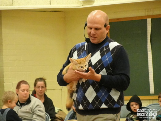 Jim Nemet with Fennec Fox - Traveling Show (2)