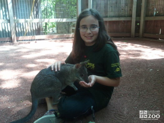 Keeper for a Day Participant with Wallaby