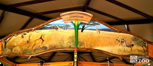 Rounding Board Mural Grasslands Tanzania
