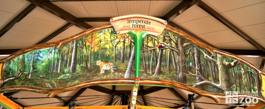 Rounding Board Mural Temperate Forest Asia