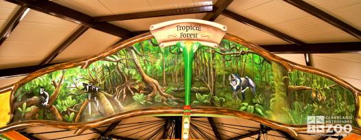 Rounding Board Mural Tropical Forest Gabon