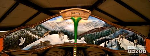 Rounding Board Mural Tundra Asia Mongolia