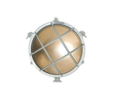7029 Brass Bulkhead with External Fixing via Feet, Chrome Plated by Davey Lighting Limited
