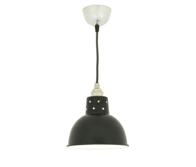 7165 Spun Reflector with Cord Grip Lampholder, Painted Black by Davey Lighting Limited