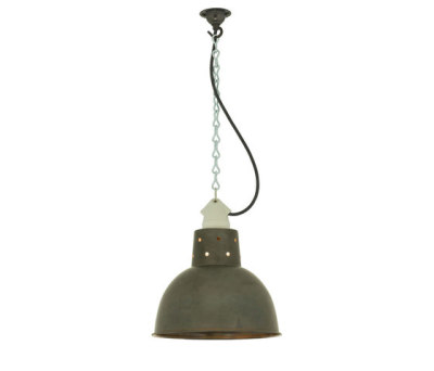 7165 Spun Reflector with Suspension Lampholder, Weathered Copper by Davey Lighting Limited