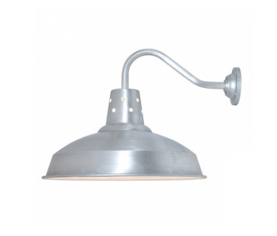 7201 Factory Wall Light, Aluminium, White Interior by Davey Lighting Limited