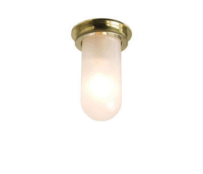 7202 Ship's Companionway Light, Polished Brass, Frosted Glass by Davey Lighting Limited