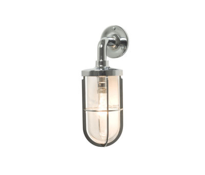 7207 Weatherproof Ship's Well Glass, Chrome, Clear Glass by Davey Lighting Limited