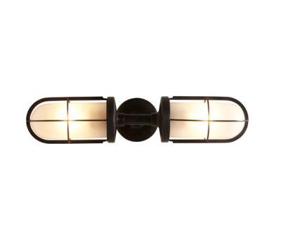 7208 Weatherproof Ship's Double Well Glass, Weathered Brass, Frosted Glass by Davey Lighting Limited