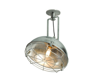7238 Steel Working Wall Light With Protective Guard, Galvanised by Davey Lighting Limited