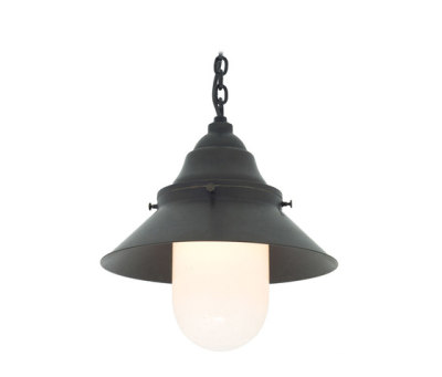7244 Ship's Large Deck Light, Weathered, Opal Glass by Davey Lighting Limited