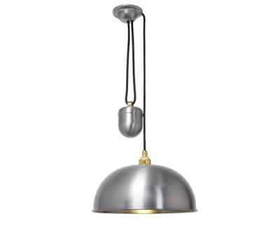 7300 Dome Rise & Fall Pendant, Steel Laquered by Davey Lighting Limited