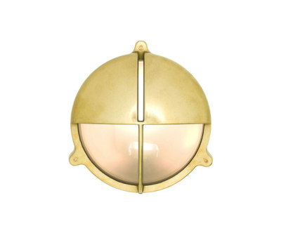 7427 Brass Bulkhead With Eyelid Shield, Large, Natural Brass by Davey Lighting Limited
