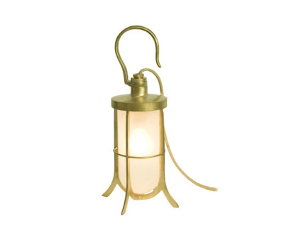 7521 Ship's Hook Light, Frosted Glass, Polished Brass by Davey Lighting Limited