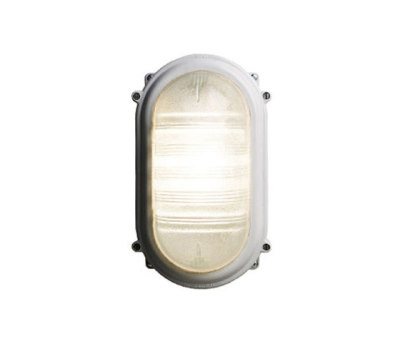 7530 Rectangular Bulkhead Fitting, E27, Grey by Davey Lighting Limited