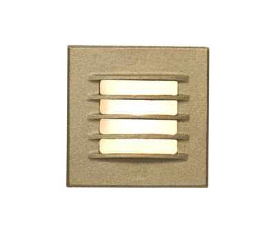 7600 Low Voltage Recessed Step Light, Bead Blasted Bronze by Davey Lighting Limited