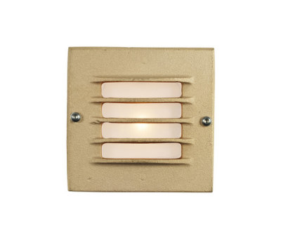 7601 Low Voltage Recessed Step Light, Back Box, Sandblasted Bronze by Davey Lighting Limited
