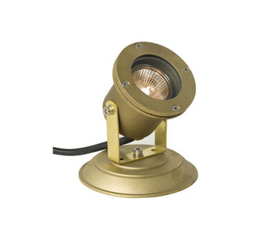 7604 Spotlight for Submerged or Surface use, Brass Plate, Brass by Davey Lighting Limited