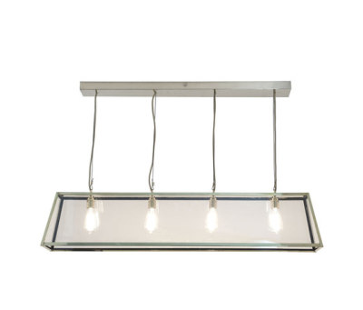 7632 Diner, Internally Glazed, 125, Polished Nickel, Clear Glass by Davey Lighting Limited