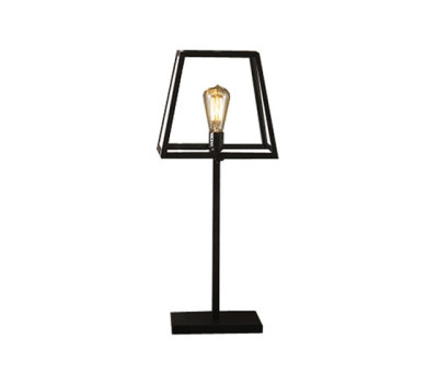7636 Quad Medium Table Light, Weathered Brass, Clear Glass by Davey Lighting Limited